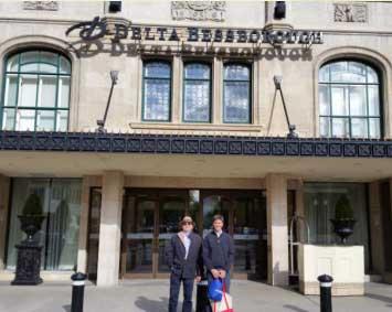 Con Jacques Delbecque, director del Laboratorio Ingenasa (España)